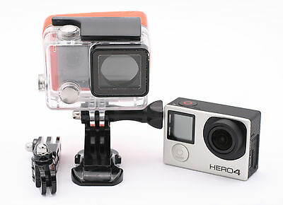 Gopro Hero 4 Silver Edition Camcorder with accessories Waterproof Housing