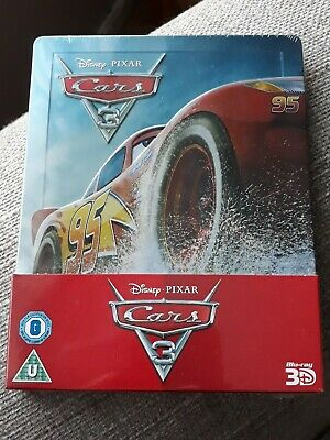 Cars 3 Blu Ray Steelbook - Owen Wilson - Disney Pixar - New Sealed