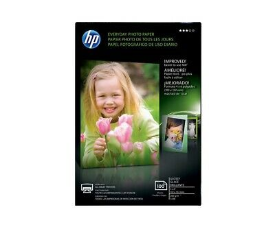 HP Glossy 4x6 Everyday Photo Paper - 100 sheets