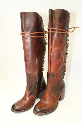 5ab1bfaae537b5 Freebird By Steven Womens 7 Cosmo Tall Hand Burnished Leather Riding Boots  NEW