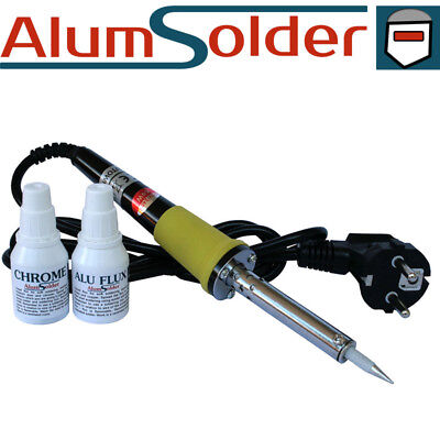 Aluminium and Stainless steel soldering kit, all in one 2 Fluxes, soldering iron