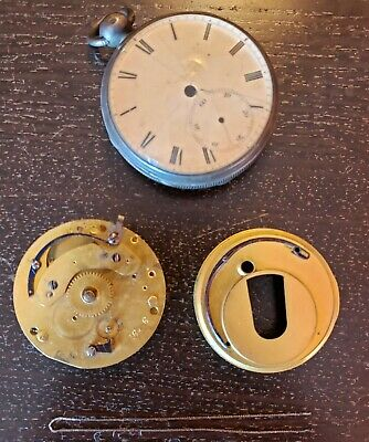 Antique Late 1800's Graham Liverpool England Fusee Pocket Watch Sterling Silver
