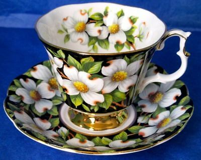 Royal Albert Vintage DOGWOOD Provincial Flowers Series Bone China Cup & Saucer