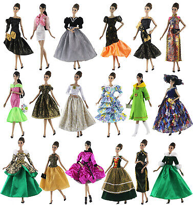 10 Set Fashion Evening Dress gown Skirt Clothes/Outfit For 11.5in.Doll Gifts