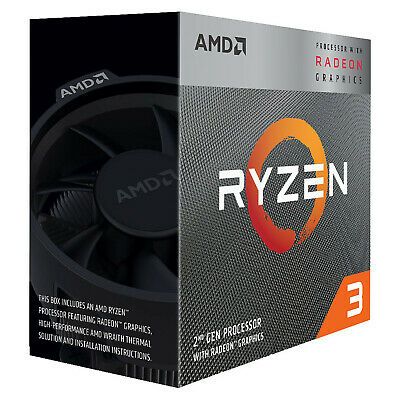 AMD Ryzen 3 3200G Processor 4MB 3.6 GHz AM4 4 Core 4 Thread CPU Vega 8 Graphics
