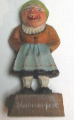 (pgasteelers1)Hand carving of Hammeffest Smiling Lady  from Norway