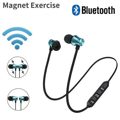 Earbuds Headphone Bluetooth 4.2 Stereo Earphone Wireless Magnetic Headset NEW