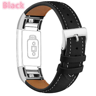 Strap Watch Bands Replacement Leather Wrist Wristband Metal For Fitbit Charge 2