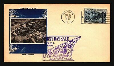 Philippines SC# 391 on 1935 Cacheted FDC / Light Creasing - Z16328