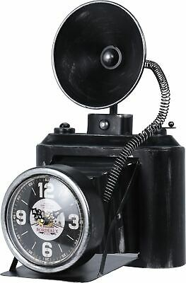 Novelty Antique Photo Camera Metal Table Clock ~ Retro Camera Mantel Desk Clock
