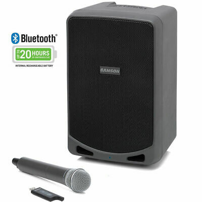 Samson PA/Amp 20hrs Bluetooth Wireless Speaker System & Mic Expedition XP106w