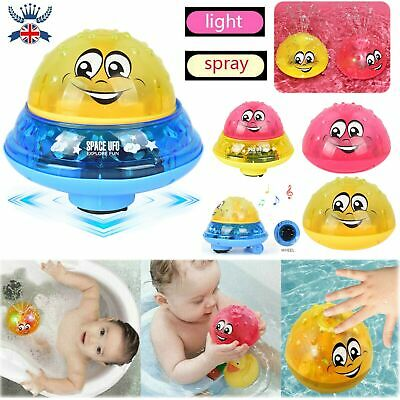Funny Infant Electric Induction Water Spray Sprinkler Rotatable Shower Bath Toys