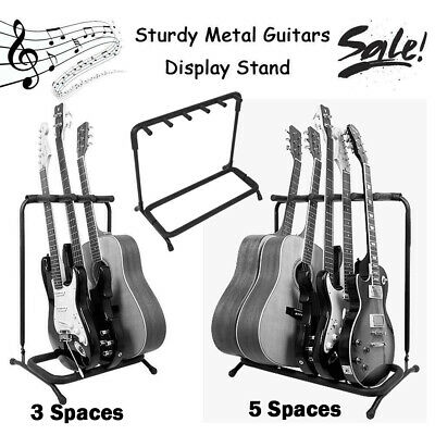 3/5/Way Multi Guitar Display Rack Stand Organizer Electric Acoustic Bass Holder