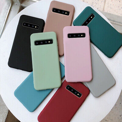 For Samsung Galaxy S10E S9 S8 Note 9 8 Slim Soft Silicone TPU Frosted Case Cover