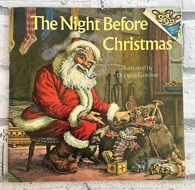 Vintage 1975 The Night Before Christmas Children's Book Beautiful Illustrations