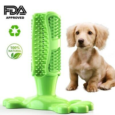 Dog Toothbrush Toy Clean Teeth Chew Stick Toy Silicone Pet Brushing Dental Care