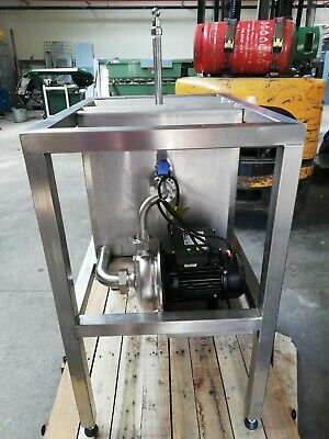Single Head Stainless Steel Cask Washer on Stand with Pump