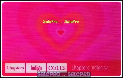 Chapters Indigo Coles Lenticular Pink Love Fr/Eng Rare 3D Collectible Gift Card