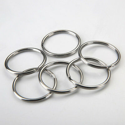 50Pcs 25mm Silver Tone Key Rings Chains Split Ring Hoop Connector Accessory Hot