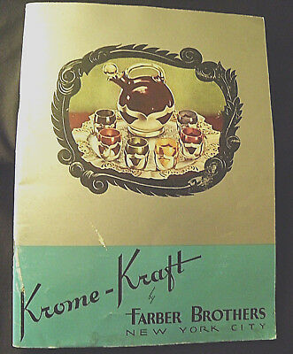 Vtg KROME KRAFT Farber Ware1941  Catalog Featuring Clip On Off Mountings