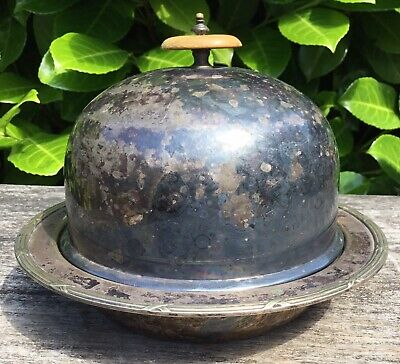 Antique Silver Plate William Hutton & Sons Single Serving Tureen Dish Unpolished