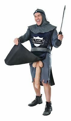 Adult Mens Knight to Remember Rude Medieval Stag Do Fancy Dress Funny Costume