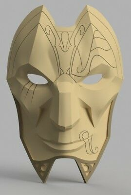 Jhin Mask LOL League of Legends Cosplay stampato 3D
