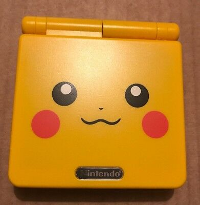 Nintendo Game Boy Advance GBA SP Pokemon Pikachu AGS-001 GAMEBOY Console