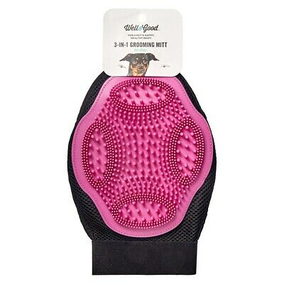 NEW Well & Good Dog Grooming Glove Assorted