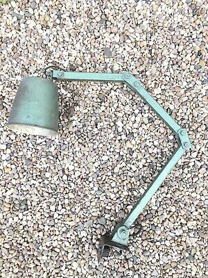 Vintage MEMLITE Industrial Machinist Wall Lamp Three Arm with switch