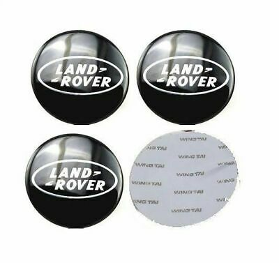 4 x Centre Cap STICKERS 65mm Land Rover Wheel Logo Decal Badge Range Hub Caps 4