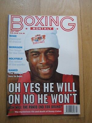 Boxing Monthly July 1995. Bruno, Hamed, Tyson, Liston, Bowe, Morrison, Holyfield
