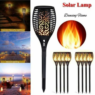 4 Pack Solar 96 LED Torch Lights Flickering Lighting Dancing Flame Garden Lamp