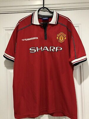 1998-00 Manchester United Home Shirt - XL