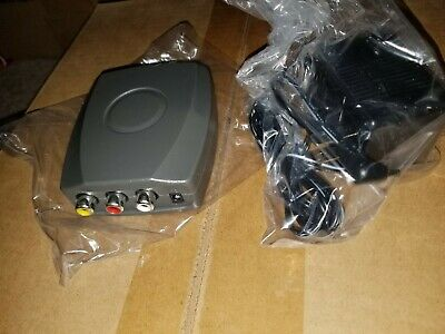 New Rca Composite Video/Audio Rf Modulator To Channel 3 Or 4 Dvd Game Consoles