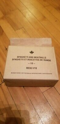 Canadian IMP MRE Meals Ready-To-Eat Spaghetti and Meatballs