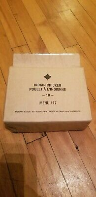 Canadian IMP MRE Meals Ready-To-Eat Indian Chicken