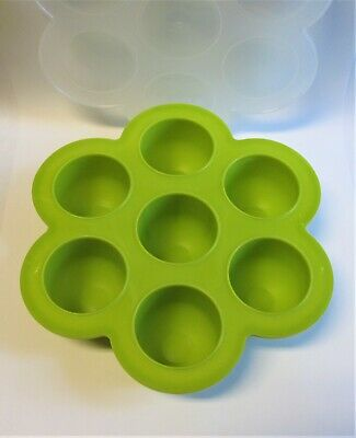 Beaba Silicone Multi-portions Baby Food Tray Green BPA Free NEW