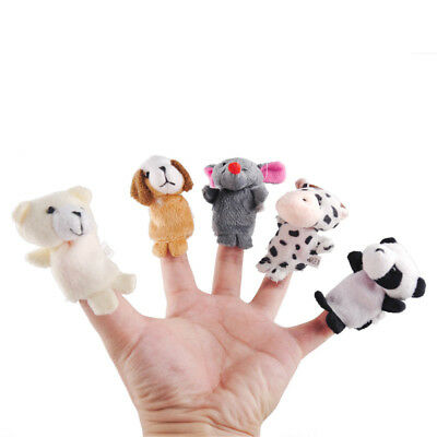 10Pcs Baby Kids Finger Animal Educational Story Toys Puppets Cloth Plush Gift AW