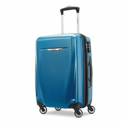 """Samsonite Winfield 3 DLX Spinner Hardside Luggage 20"""" Carry-On  (Blue) - (120752"""