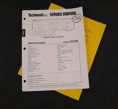 Techwood Service Manual for Compact Disc Changer Model CDC85 Plus Bulletin
