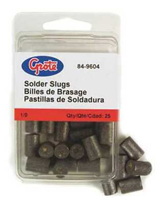 GROTE 84-9600 Solder Pellet with Flux,Gray,PK25