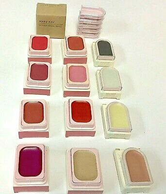 NIB Vintage Mary Kay Lipstick Square Case U PICK RARE & DISCONTINUED COLORS   FS