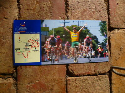 Stage 4 2000 Tour Down Under Postcard With Special  Unley Postmark Cycling