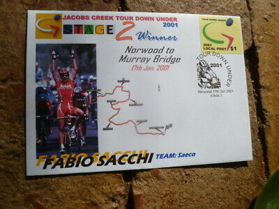 2001 Tour Down Under Local Post Cover  Stage 3  Fabio Sacchi