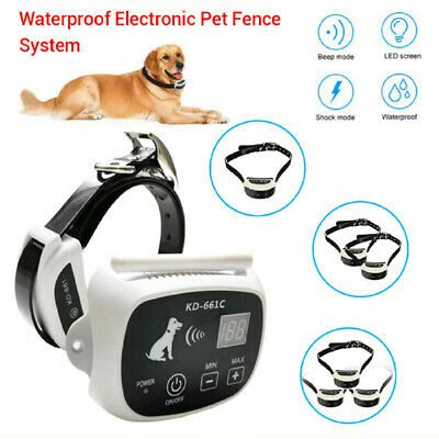 Waterproof Wireless Fence System Dog Transmitter Collar Anti Bark Containment