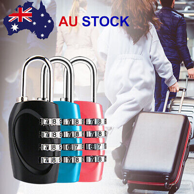 2PCS Combination Approved 4 Dial Luggage Suitcase Security Padlock Travel Lock