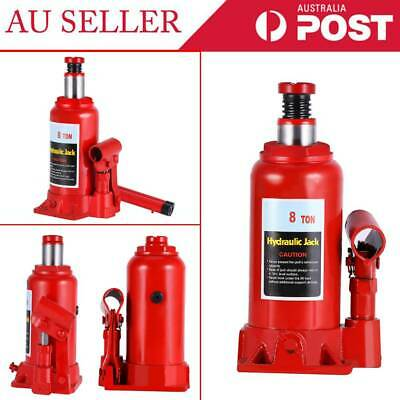 8 Ton Hydraulic Bottle Jack Car Van Truck Caravan W/ Safety Valve High Quality