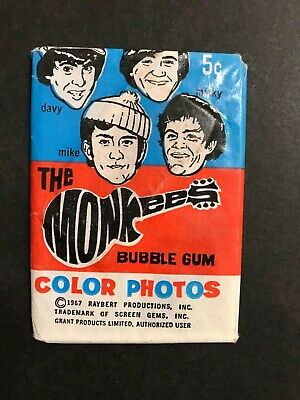 The Monkees Rare Wax Trading Card 1967 Full Unopened Pack