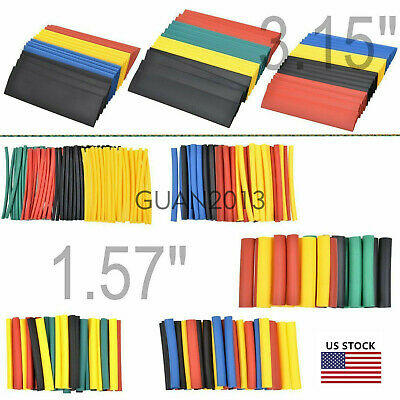 WOW 328PCS 8 Size 2 1 Polyolefin Heat Shrink Tube Sleeve Wrap Wire Assortment